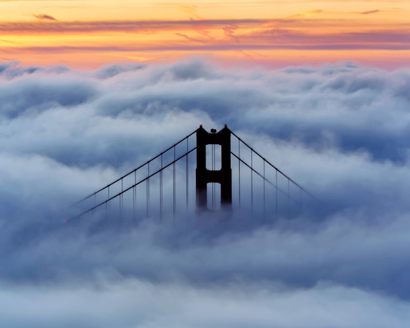 South Tower February Fog