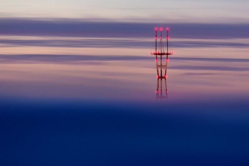 Sutro Tower February Fog