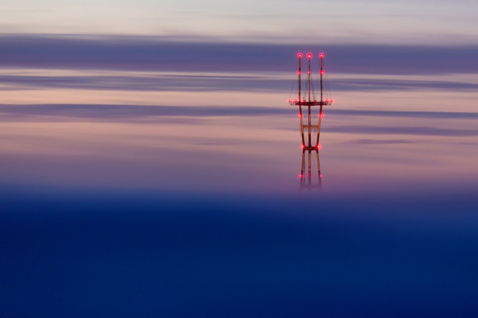 Sutro Tower February Fog