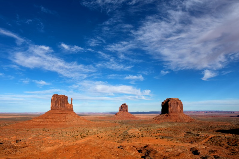 Afternoon Light at Monument Valley
