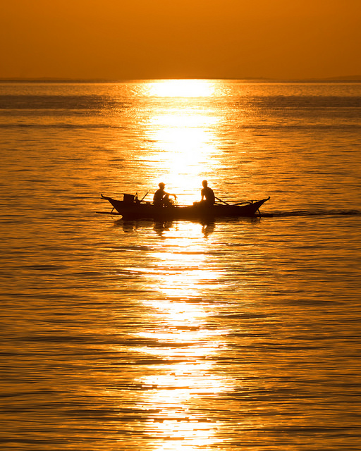 Fishing at Sunset in Donsol
