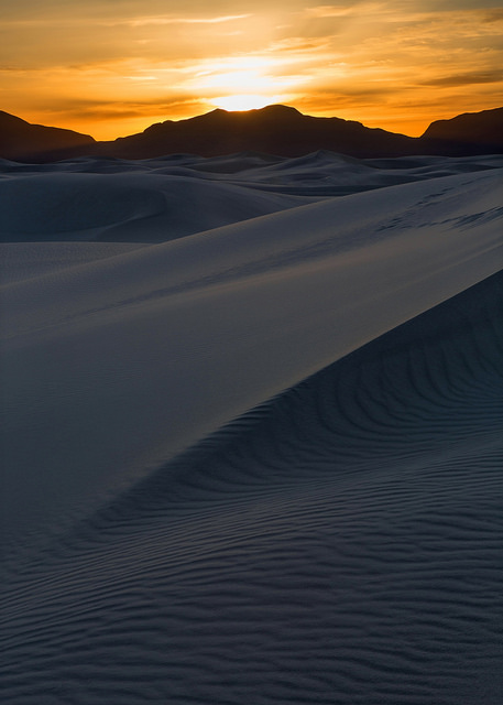 Sunset at White Sands NM