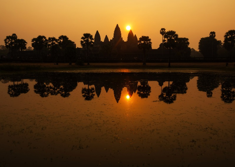 Angkor Wat Sunrise from the South Reflecting Pool