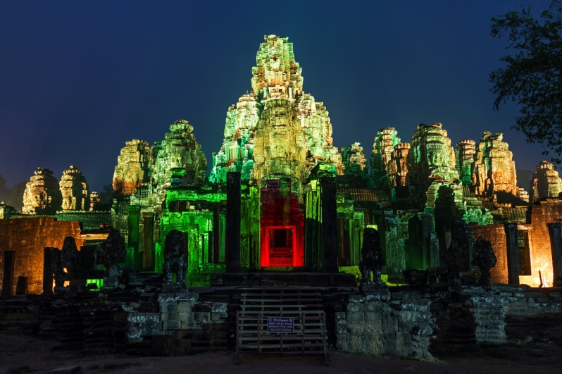 Bayon Lit Up for Khmer New Year 2016