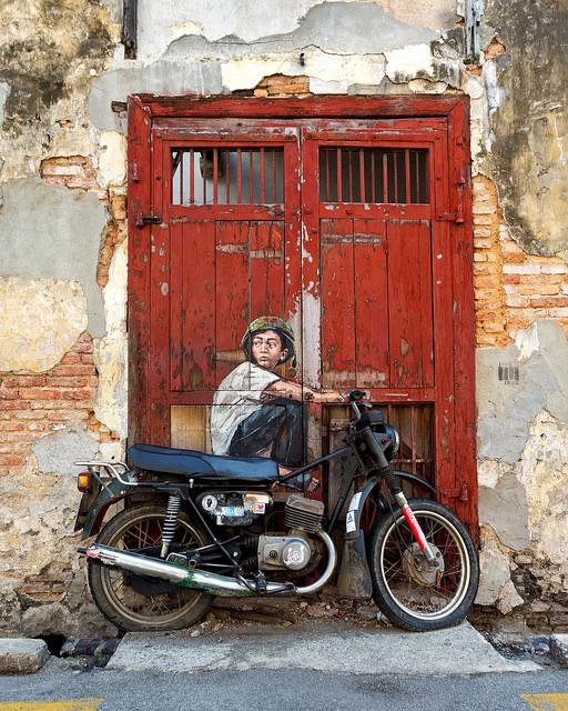 Boy on a Bike Portrait