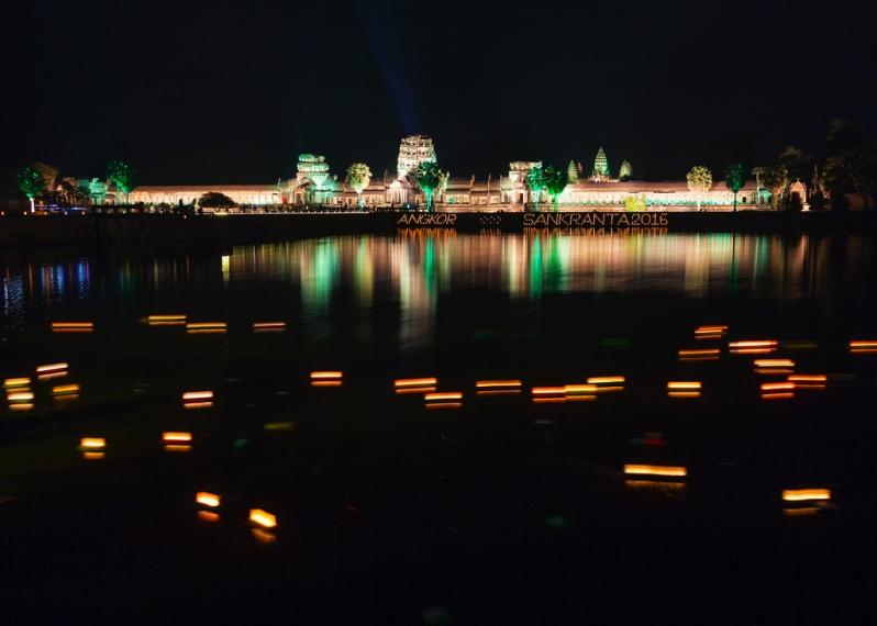 Floating Candles at Angkor Wat