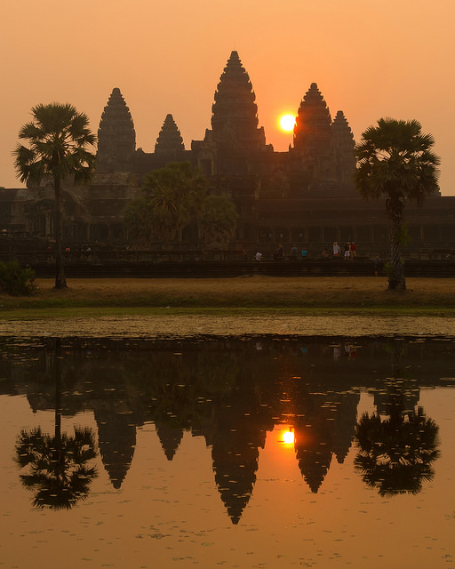 Hazy Sunrise Angkor Wat Portrait