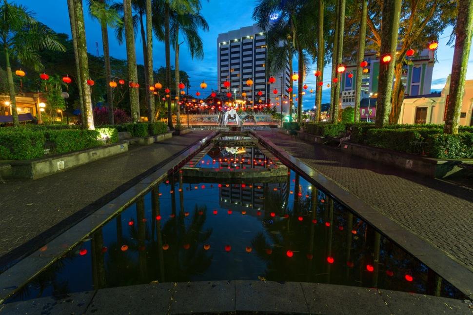 Lantern Reflection in Kuching