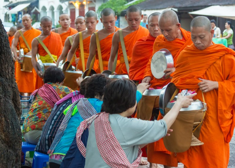 Monks Collecting Alms in LP