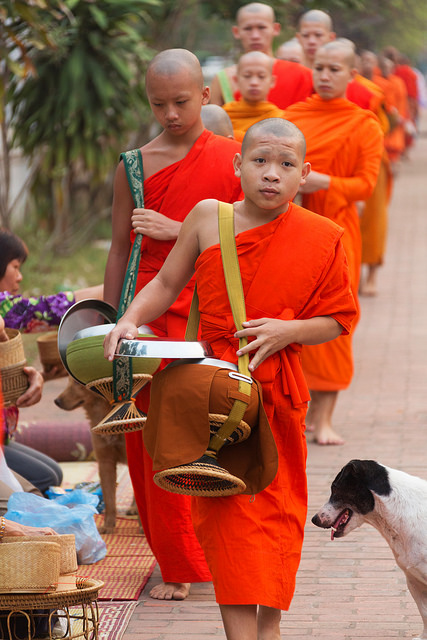 Monks Collecting Morning Alms in LP