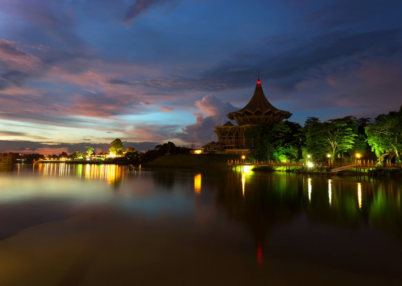 Sarawak River After Sunset