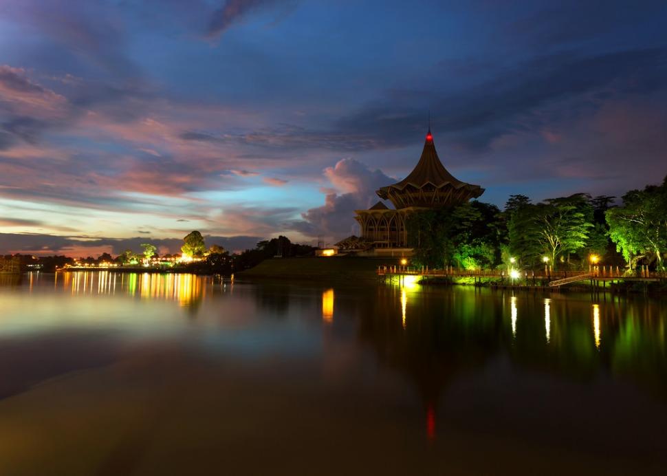 Sarawak River After Sunset