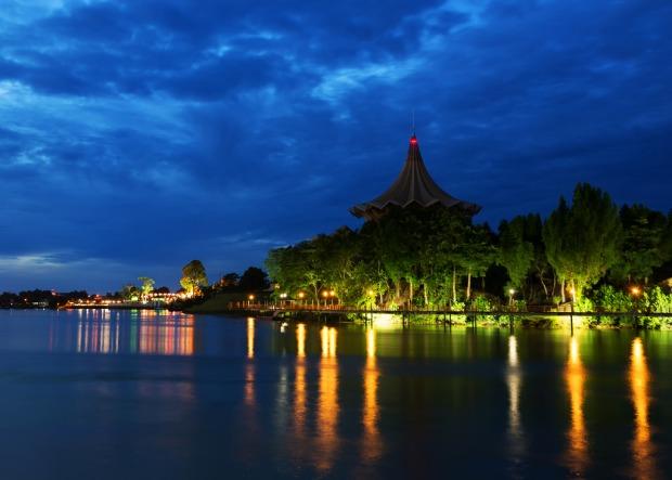Sarawak River Blue Hour