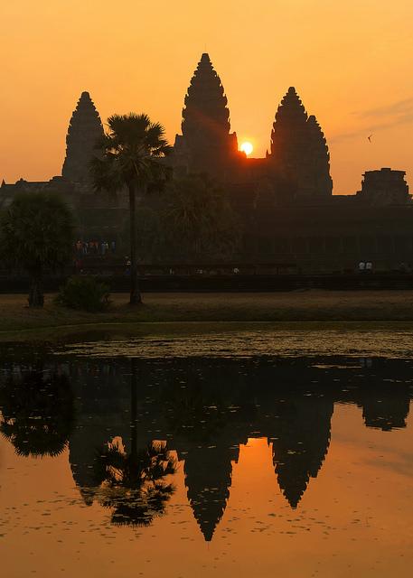 Sunrise at Angkor Wat on Khmer New Year