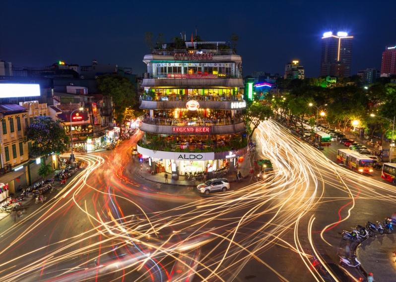 Busy Hanoi Intersection