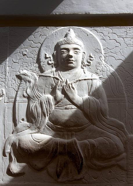 Carving at Shambhala
