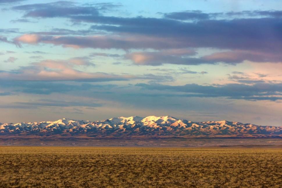 Early Light on the Altai Mountain Range