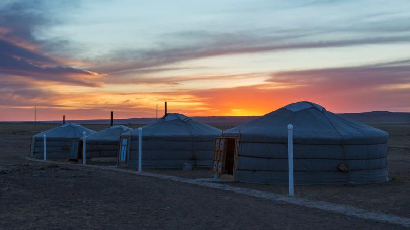 Ger Camp Sunset