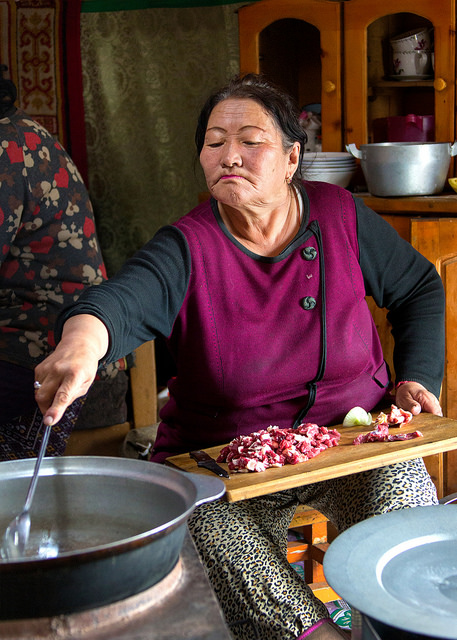 Grandmother Cooking Lunch