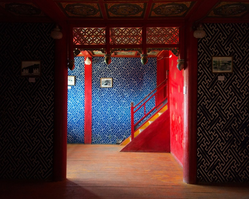 Inside the Manzushir Monastery