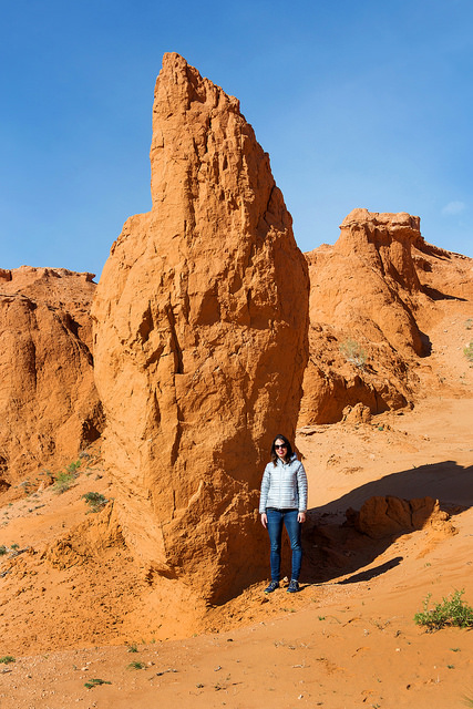 Marie at the Flaming Cliffs