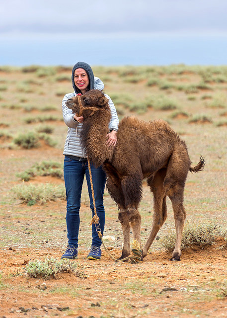 Marie with a Baby Camel