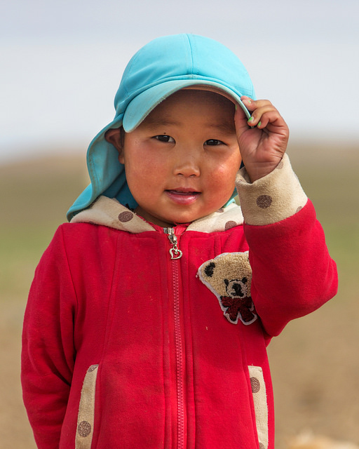 Mongolian Girl at Khongoryn Els