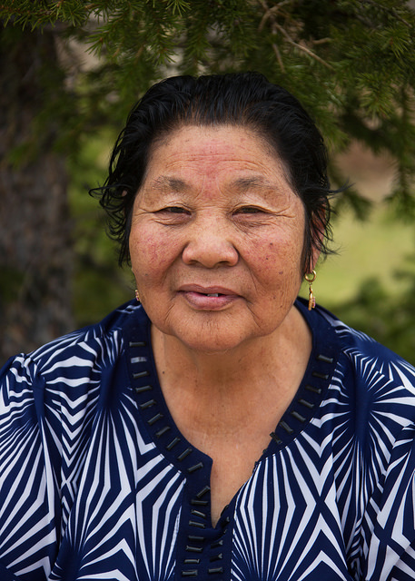 Mongolian Grandmother at Manzushir Monastery