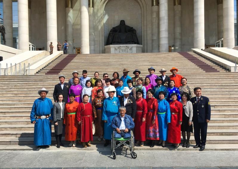 Mongolian Group at Sukhbaatar Square