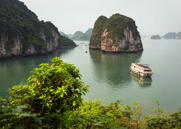 Morning Light on Halong Bay