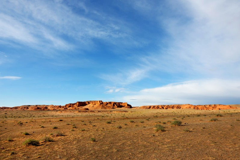 Morning Sun on the Flaming Cliffs
