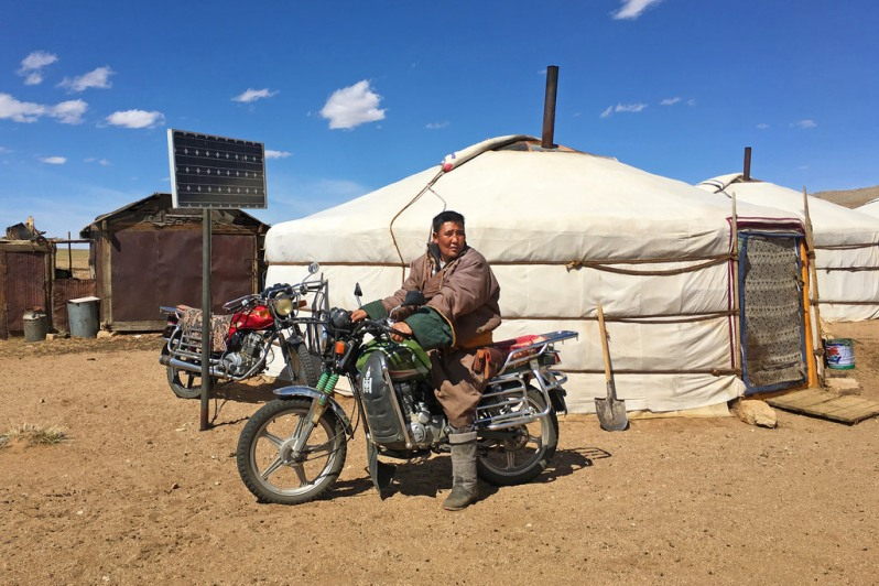 Nomad on His Motorcycle