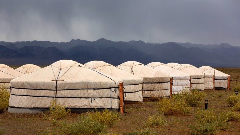 Rain Over Ger Camp