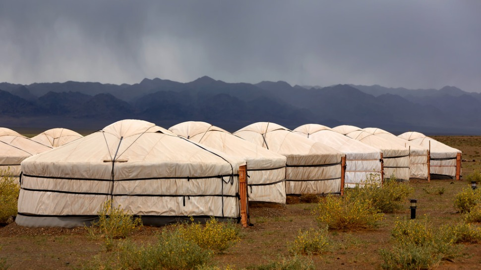 Rain Over Ger Camp