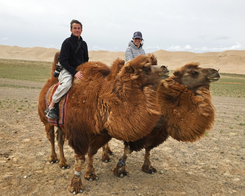 Riding Camels at Khongoryn Els
