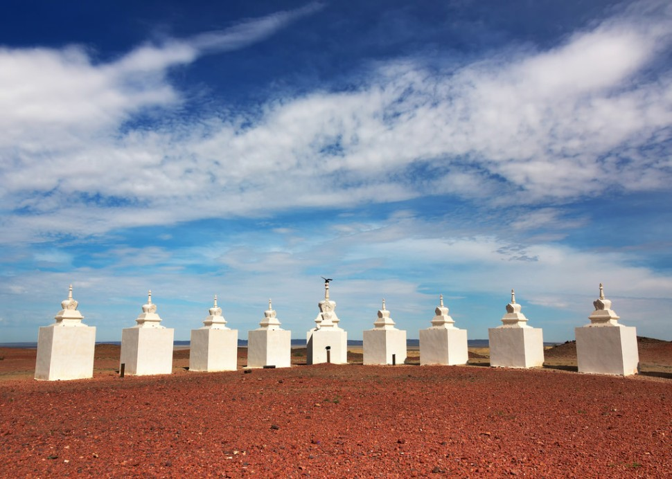 Stupas at Shambhala