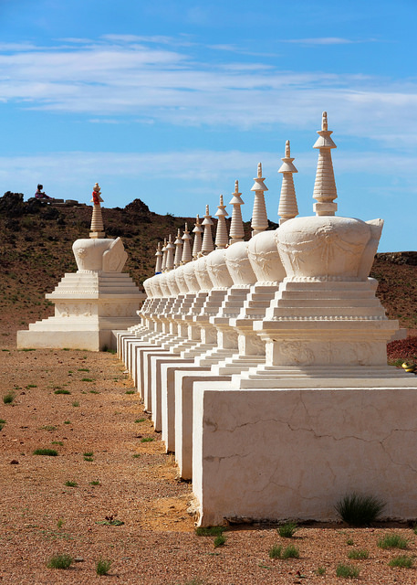 White Stupas at the Energy Center