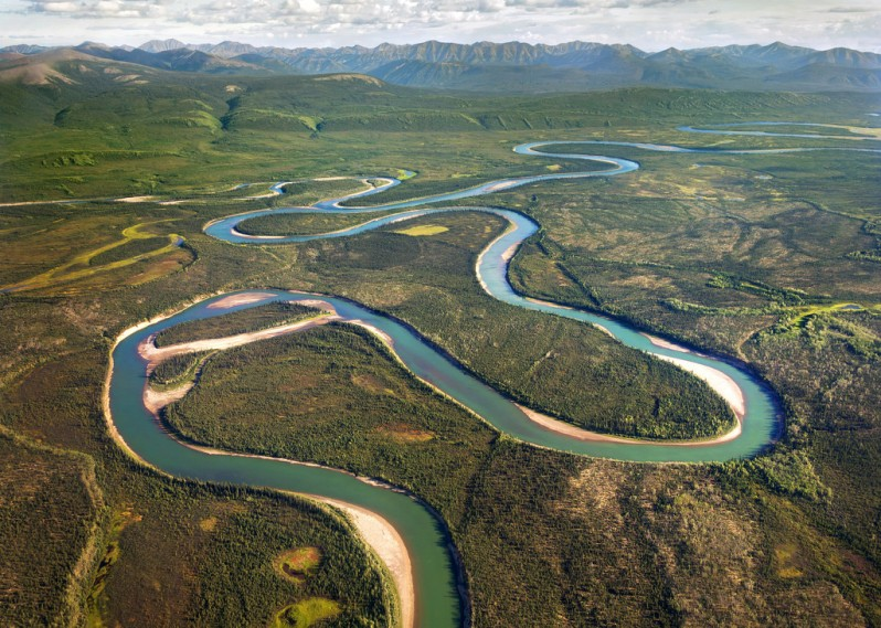 Curving River in Gates of the Arctic National Park