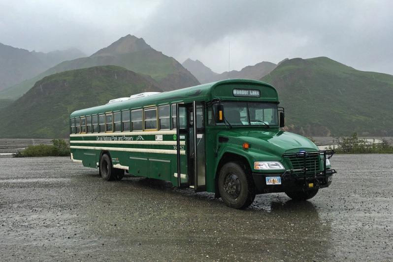 Denali Bus in the Rain