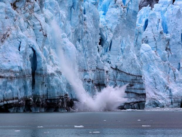 Margerie Glacier Calving