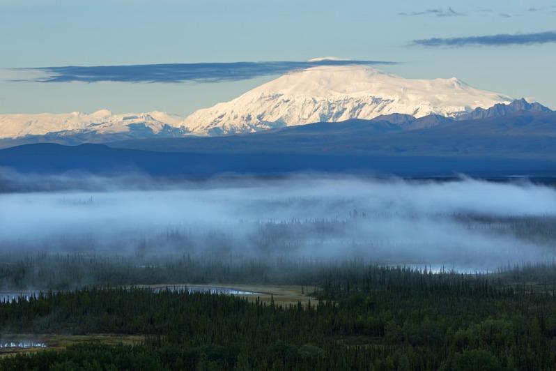 Morning Light on Wrangell Mountains