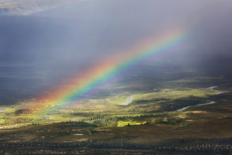 Rainbow Over Gates of the Arctic NP
