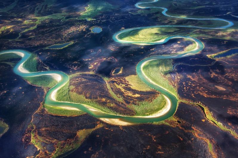 River and Burned Land in Kobuk Valley