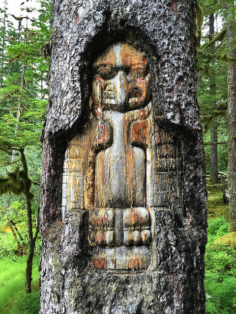 Tree Carving at Glacier Bay NP
