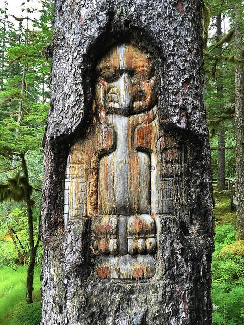 Tree Carving at Glacier Bay NP