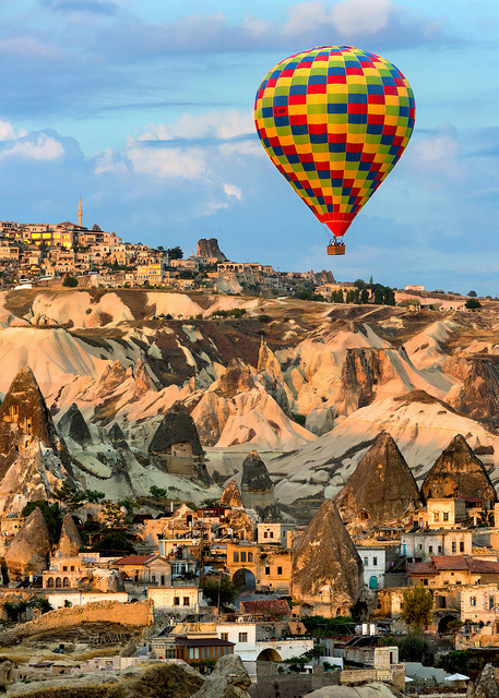 Balloon and First Light in Goreme