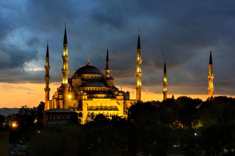 Blue Mosque after Sunset