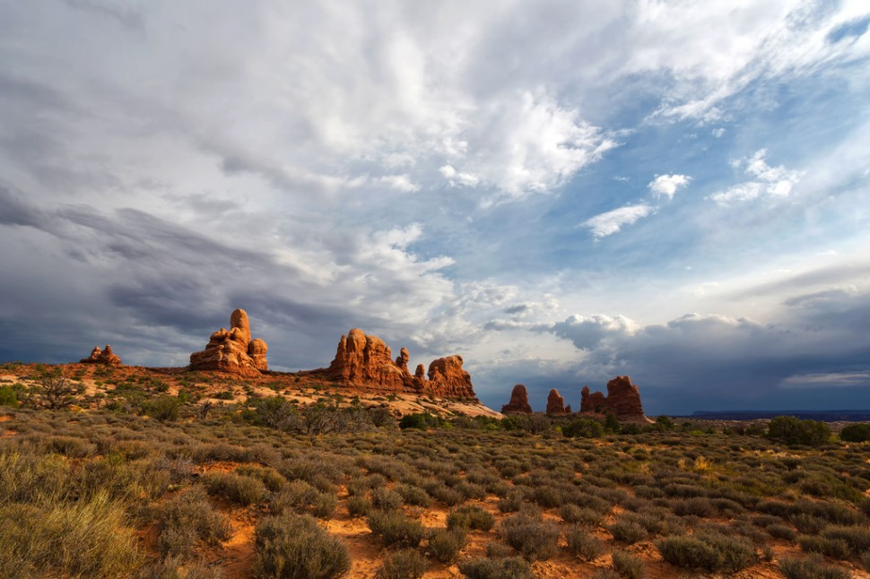 Clouds Over Arches NP