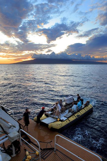 Disembarking the Skiff at Sunset