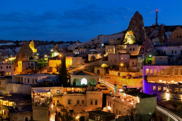 Goreme Hillside at Blue Hour